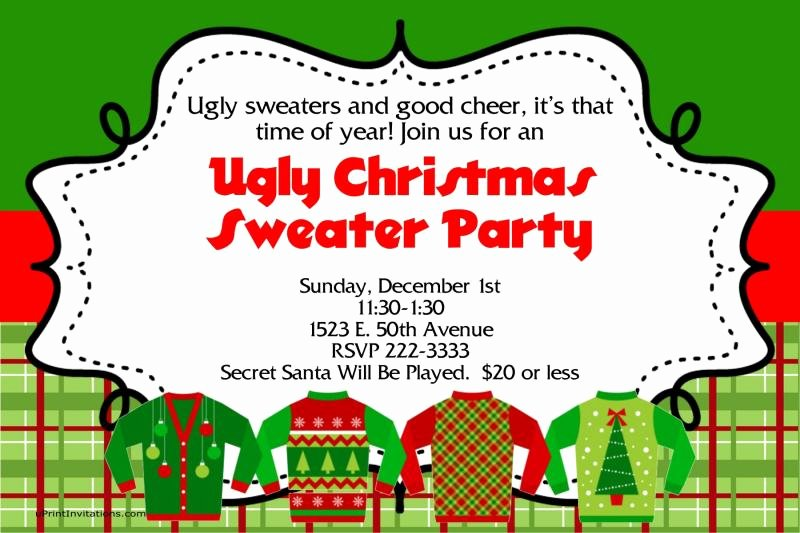 Ugly Sweater Party Invitation Template Free Luxury A Ugly Sweater Christmas Party by Uprintinvitations On Zibbet