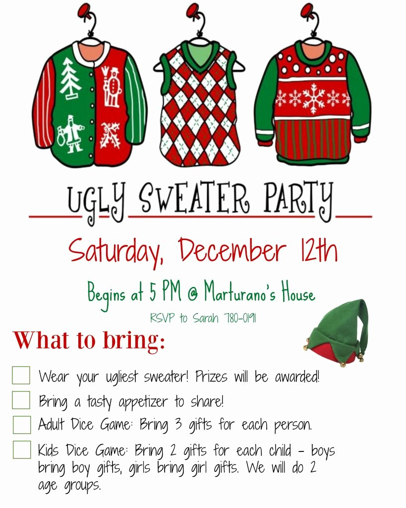 Ugly Sweater Party Invitation Template Free Luxury How to Host An Ugly Christmas Sweater Party Must Have Mom