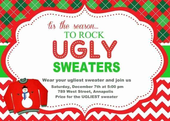Ugly Sweater Party Invitation Template Free Luxury Nice and Affordable Christmas Party Invites