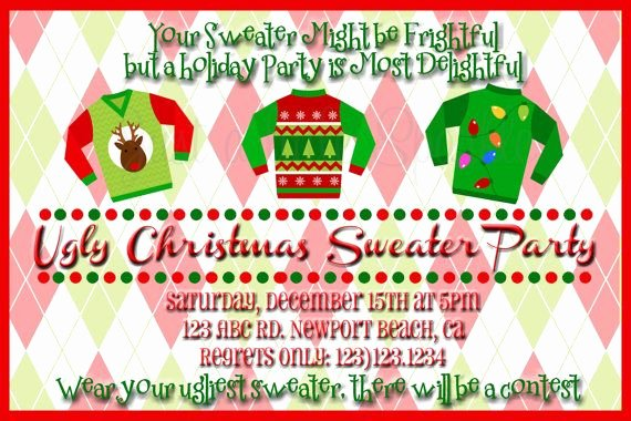 Ugly Sweater Party Invitation Template Free New 17 Best Ideas About Holiday Invitations On Pinterest