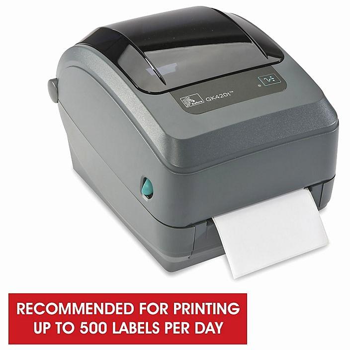 Uline Label Printer Luxury Zebra Gk420t Desktop Dual Barcode Printer H 2526 Uline