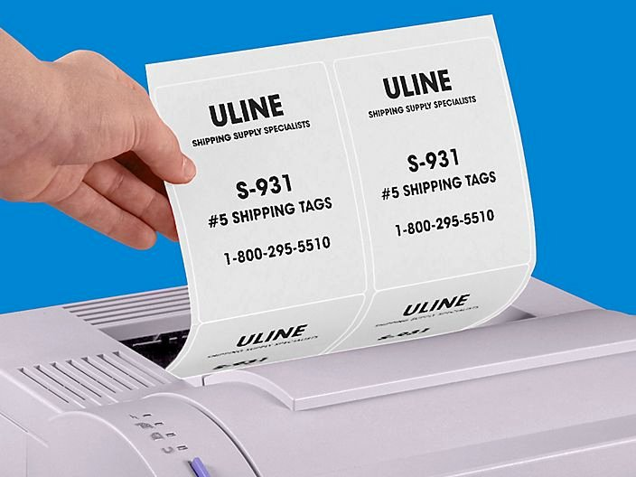 Uline Label Template Fresh White Labels Full Sheet Labels White Laser Labels In