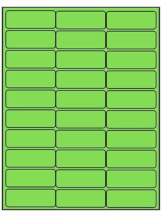 "Uline Label Template New Removable Laser Labels Fluorescent Green 2 5 8 X 1"" S"