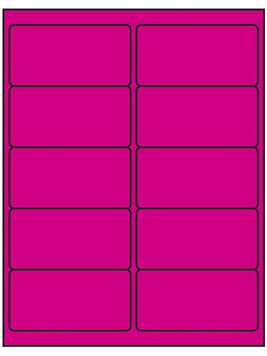 """Uline Label Templates Beautiful Removable Laser Labels Fluorescent Pink 4 X 2"""" S P"""