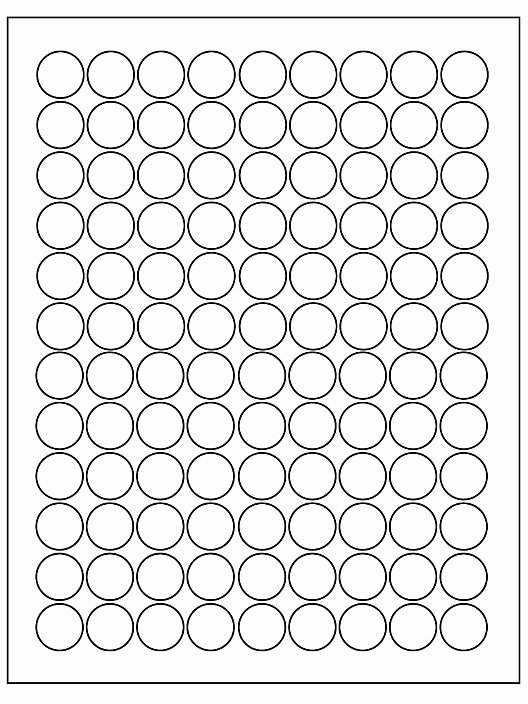 """Uline Label Templates Beautiful Uline Removable Circle Laser Labels White 3 4"""" S"""