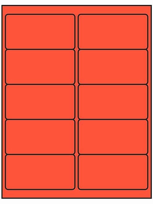 """Uline Label Templates Elegant Removable Laser Labels Fluorescent Red 4 X 2"""" S R"""