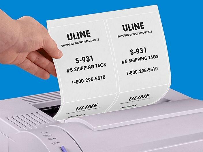 Uline Label Templates Inspirational White Labels Full Sheet Labels White Laser Labels In