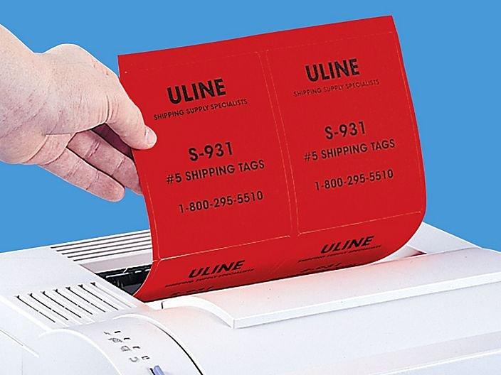 Uline Label Templates Unique True Color Laser Labels Red True Color Labels In Stock