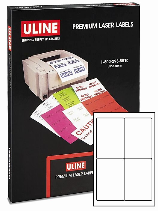 "Uline Labels Templates Best Of Uline Weather Resistant Laser Labels 4 X 6"" S Uline"