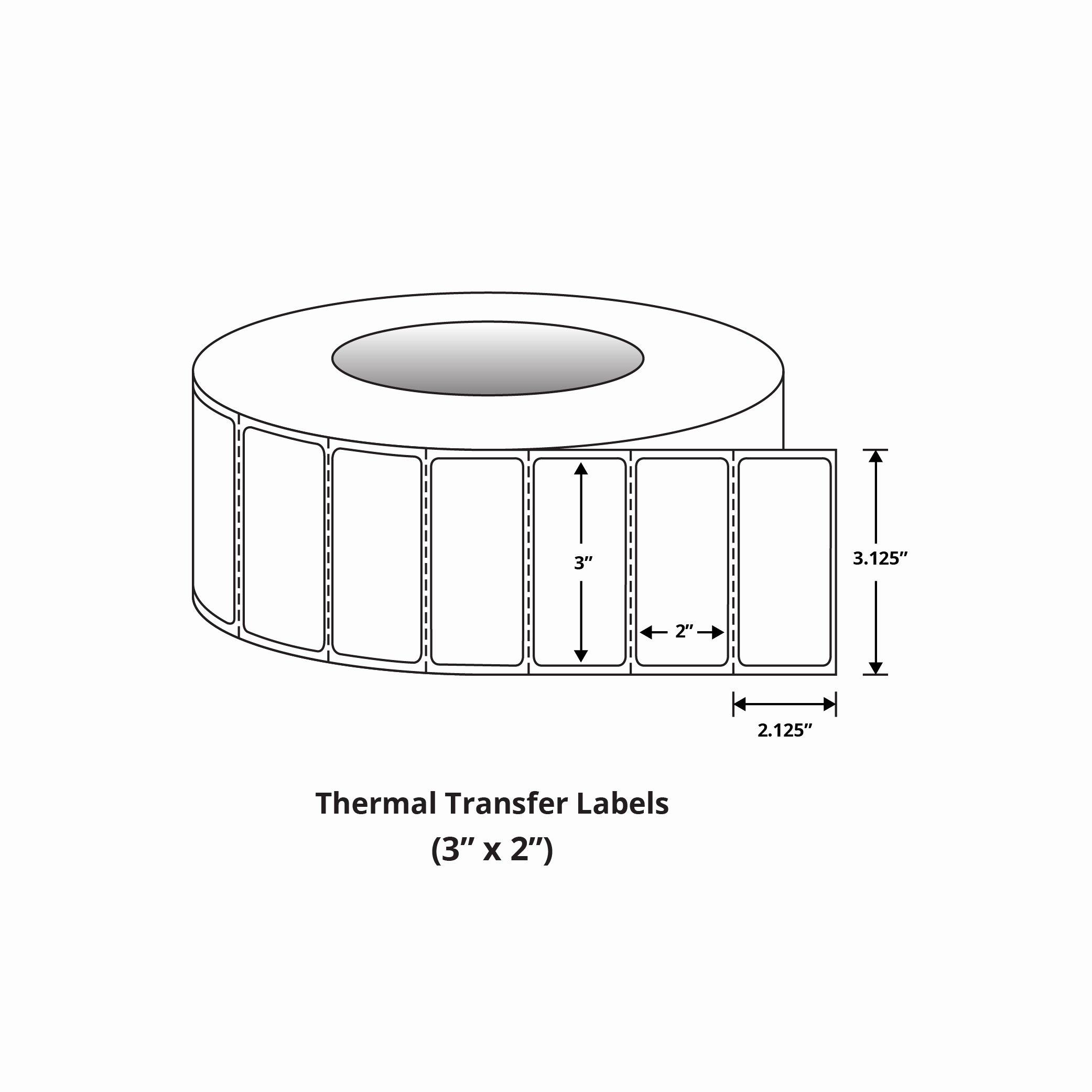 "Uline Premium Laser Labels Lovely Premium 3"" X 2"" thermal Transfer Labels"