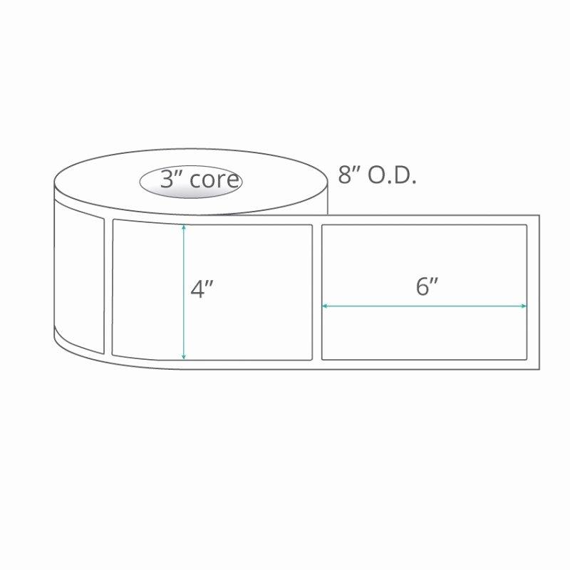 Uline Premium Laser Labels Unique 4x6 thermal Transfer Labels Nonperforated