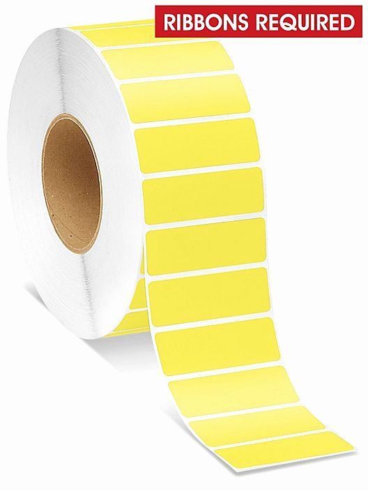 """Uline thermal Labels Beautiful Industrial thermal Transfer Labels Yellow 3 X 1"""" S"""