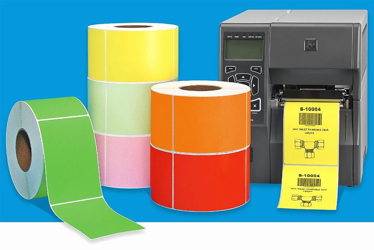 Uline thermal Labels Elegant Industrial thermal Transfer Labels Color In Stock Uline