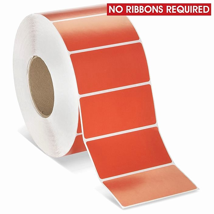 """Uline thermal Labels Fresh Industrial Direct thermal Labels Red 4 X 2"""" S R"""