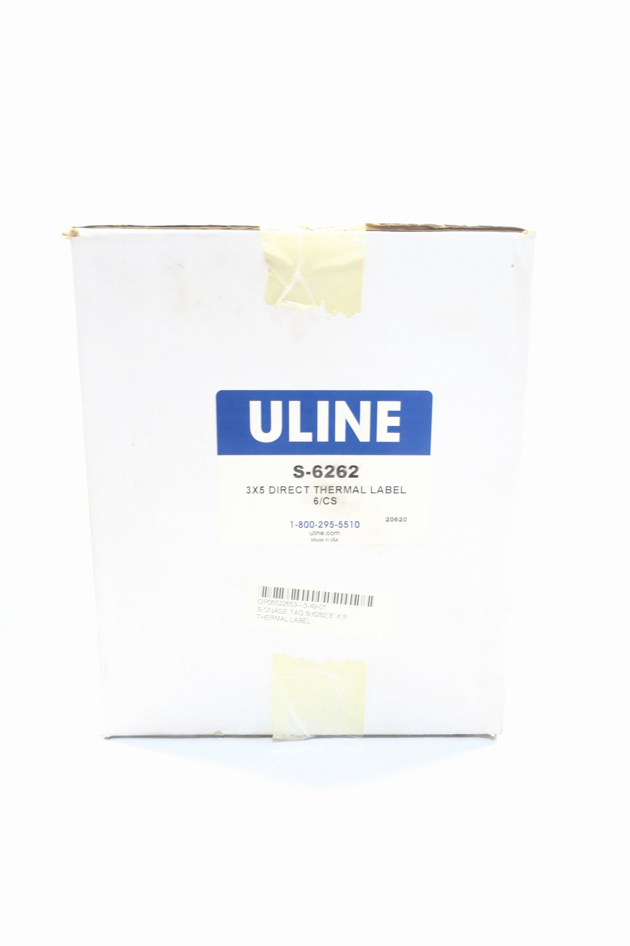 Uline thermal Labels Inspirational Box Of 6 Uline S 6262 3x5 Direct thermal Label D