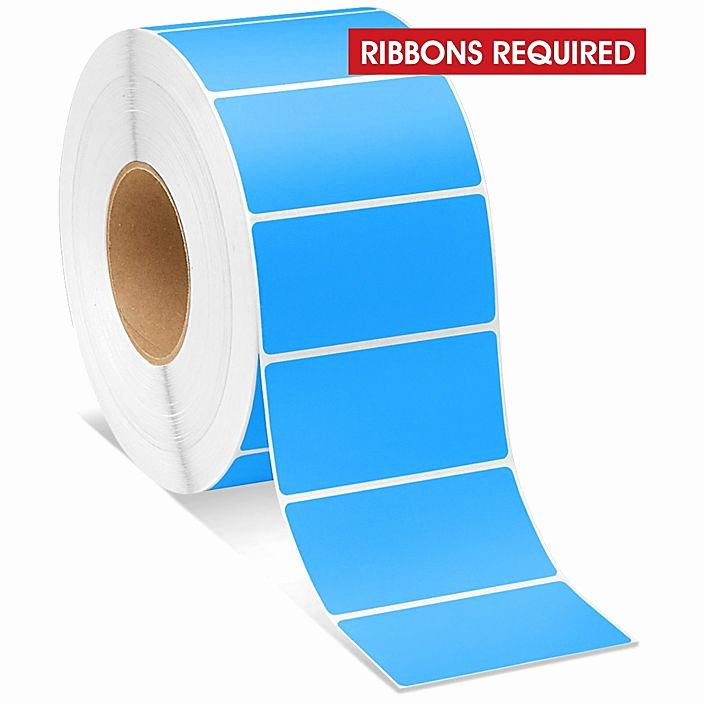 Uline thermal Labels Lovely Industrial thermal Transfer Labels Fluorescent Blue 4 X