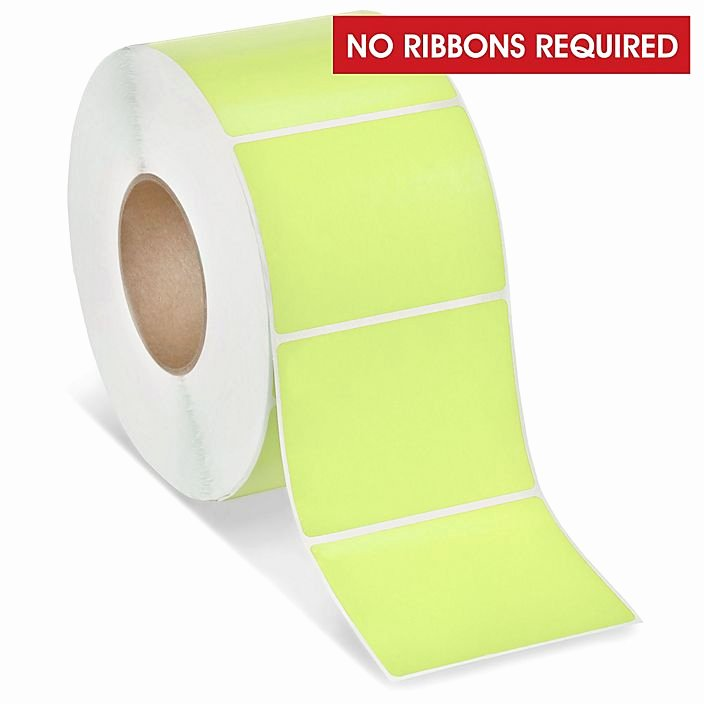 """Uline thermal Labels Unique Industrial Direct thermal Labels Green 4 X 3"""" S 9628g"""