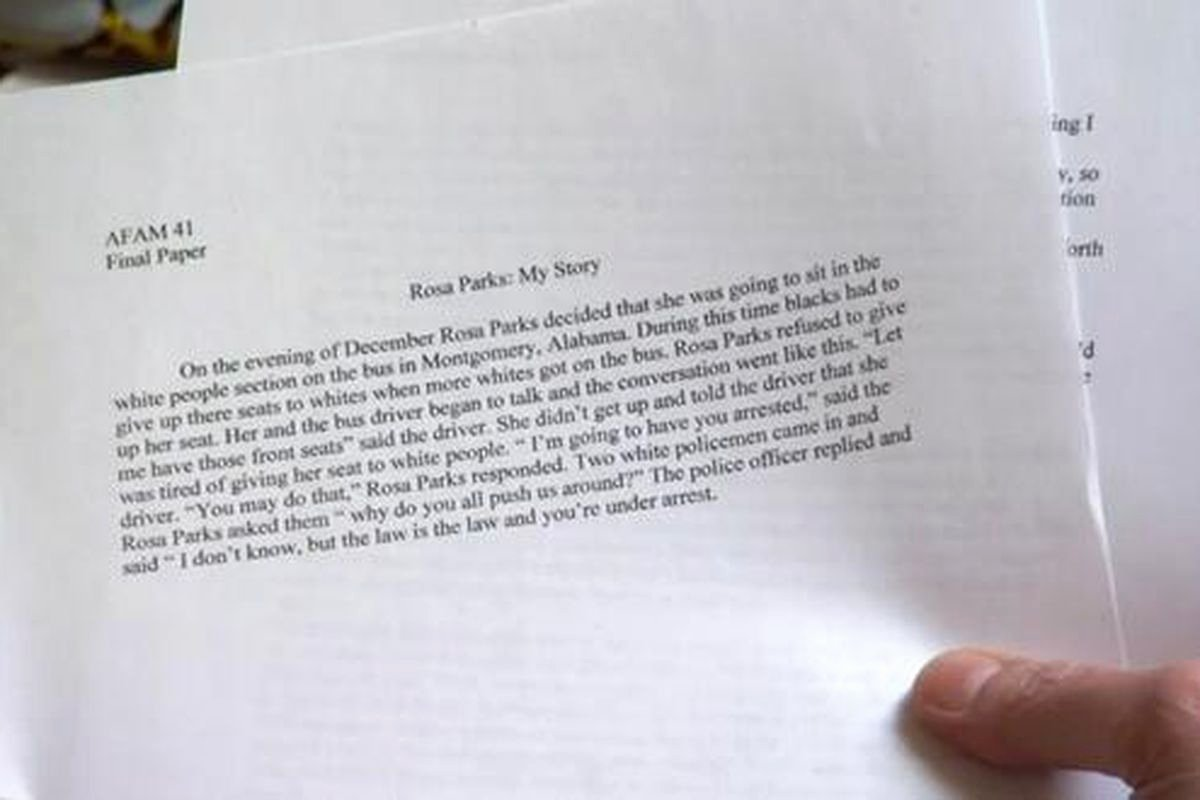 Unc Rosa Parks Final Paper Beautiful Unc S Fake Classes Were Very Fake Sbnation