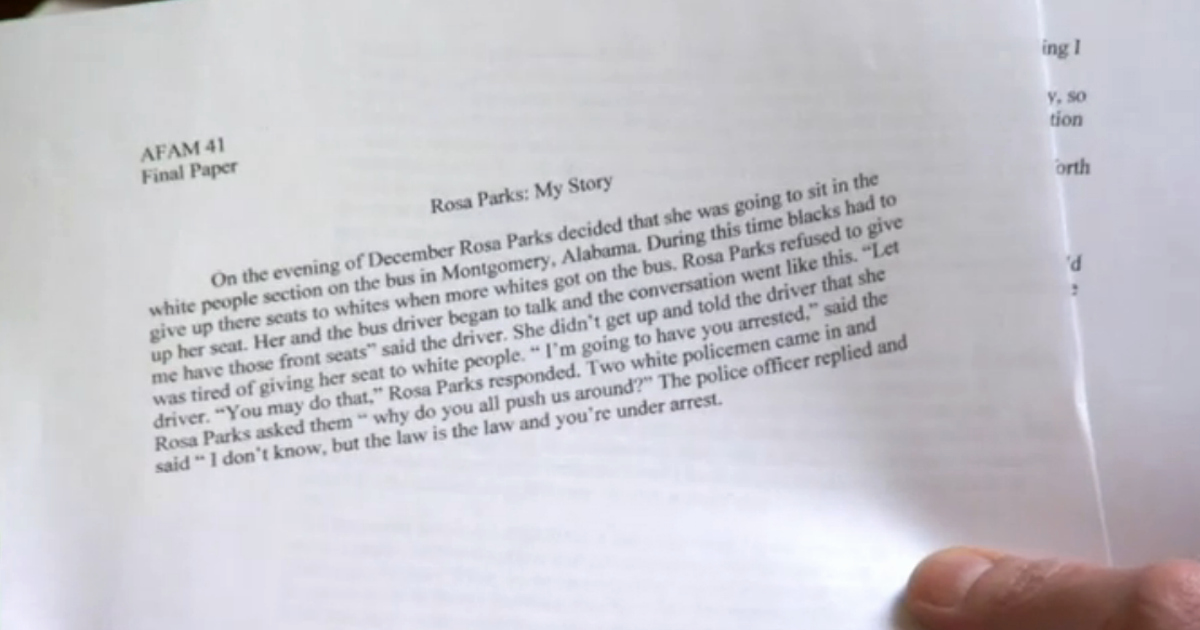 Unc Rosa Parks Final Paper Lovely This 146 Word Paper Earned Unc athlete An A Says former