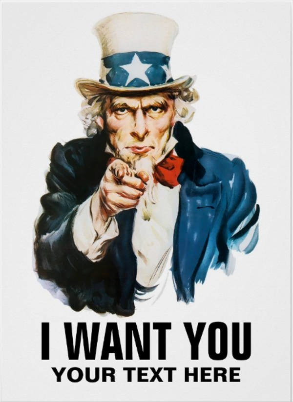 Uncle Sam Wants You Template Awesome 30 Downloadable Wanted Posters