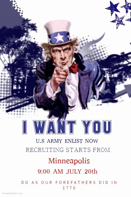 Uncle Sam Wants You Template Luxury Uncle Sam Poster Template Inspirational 10 Best Wanted