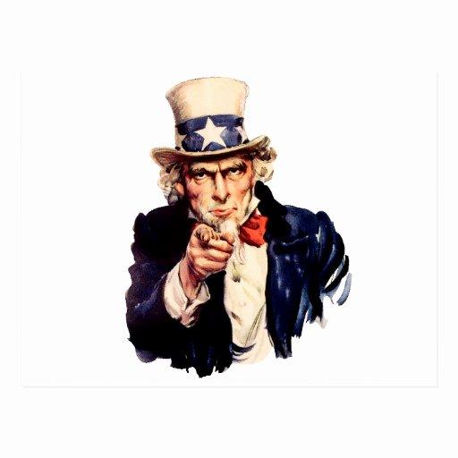 Uncle Sam Wants You Template Unique Uncle Sam Wants You Postcard