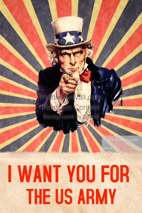 Uncle Sam Wants You Template Unique Vintage I Want You Poster Template