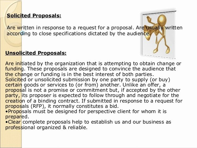 Unsolicited Proposal Sample Awesome Business Munication Presentation Proposals Sfarazr