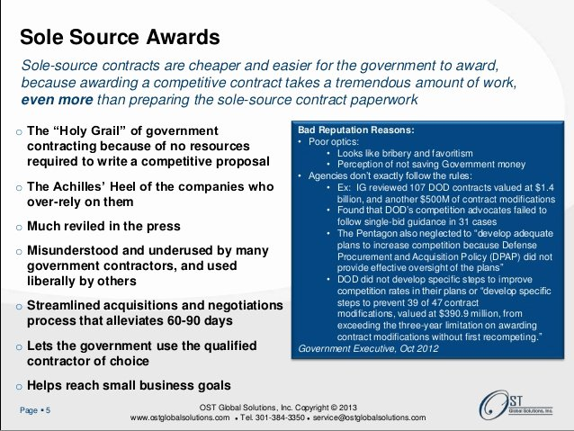 Unsolicited Proposal Sample Elegant sole source and Unsolicited Proposals Webinar
