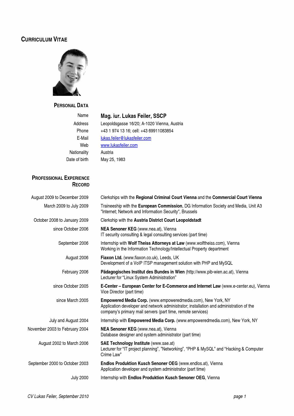 Us-style Resume Elegant Template Design Part 31
