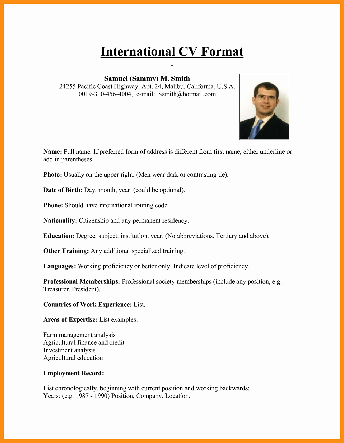 Us-style Resume Inspirational American Style Resume Template