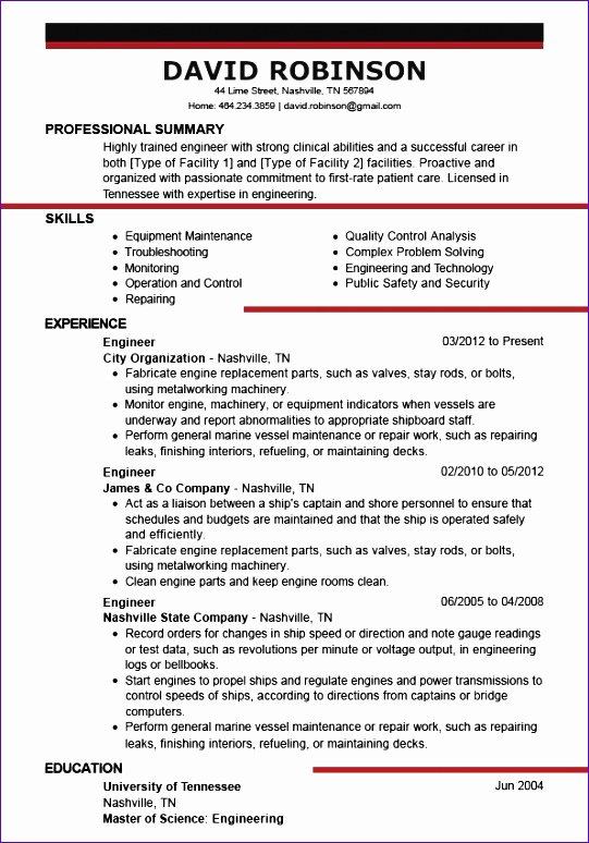 Us-style Resume Lovely 6 Excellent Resume Templates Free Exceltemplates