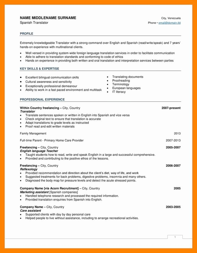 Us-style Resume New 10 Cv American Style