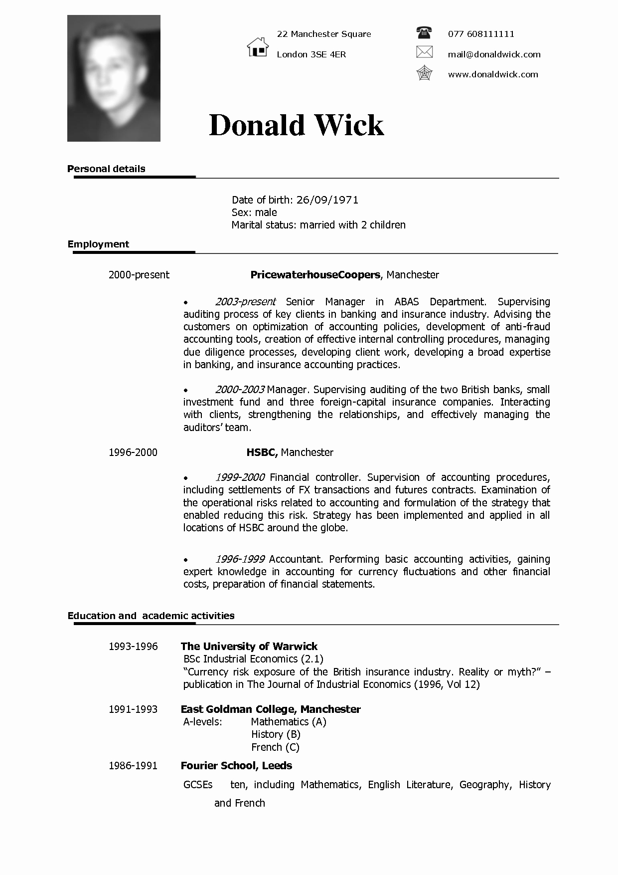 Us-style Resume New Good format Of Cv American Curriculum Good Resume Examples