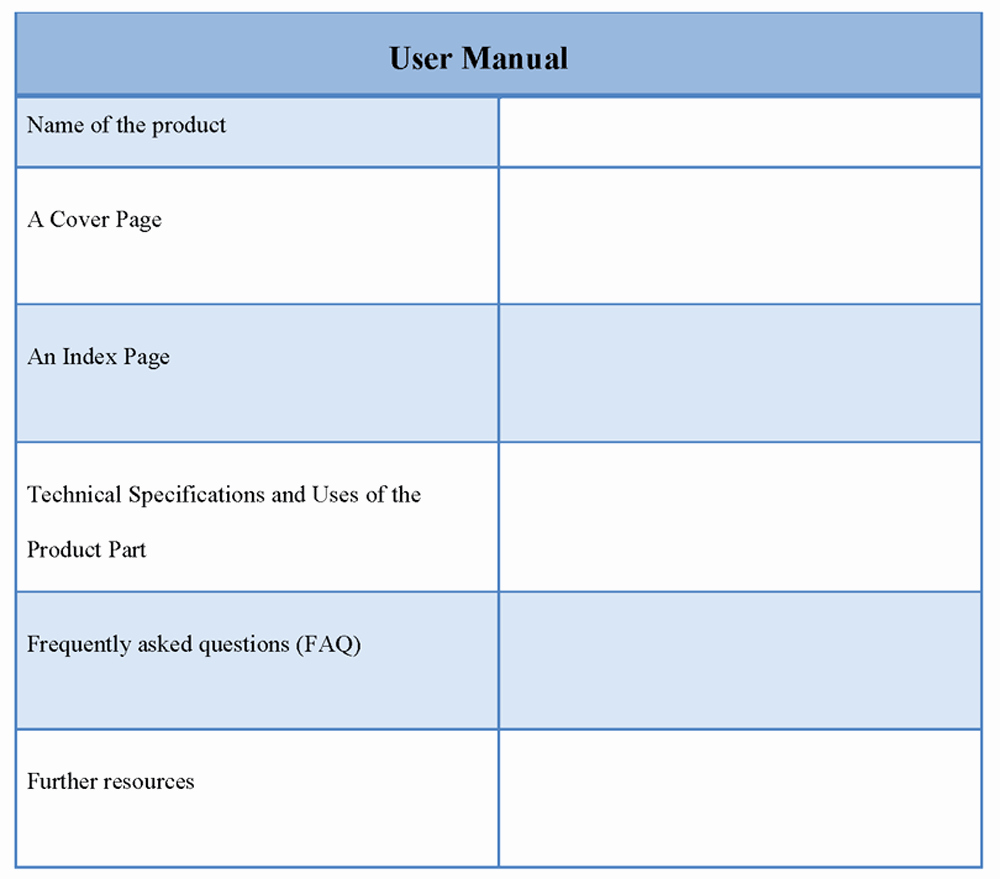 User Guide Sample Best Of Manual Template for User Template Of User Manual