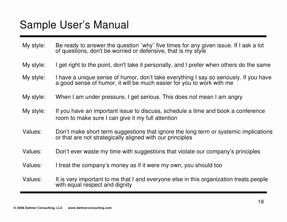 User Guide Sample Inspirational Users Manual
