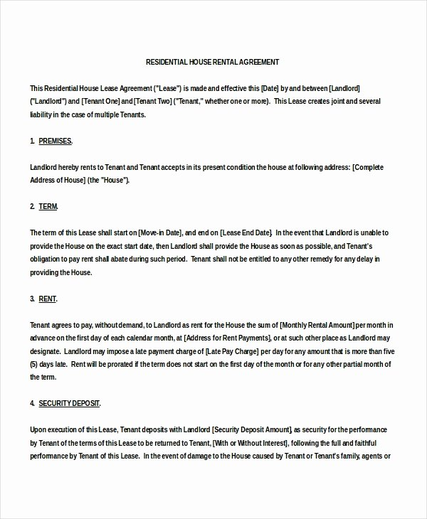 Vacation Rental House Rules Template Fresh 18 House Rental Agreement Templates Doc Pdf