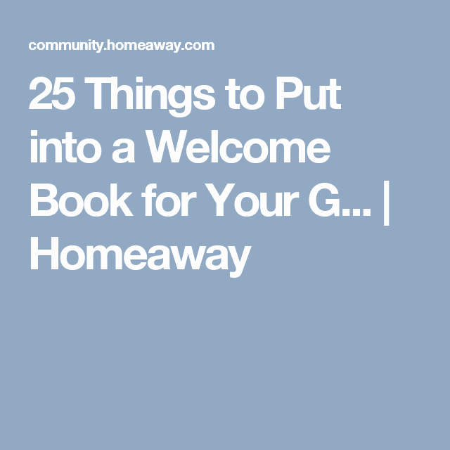 Vacation Rental House Rules Template Fresh 25 Things to Put Into A Wel E Book for Your G