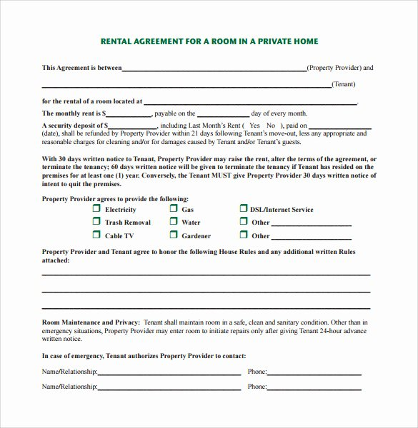 Vacation Rental House Rules Template Inspirational Home Rental Agreement 8 Download Free Documents In Pdf