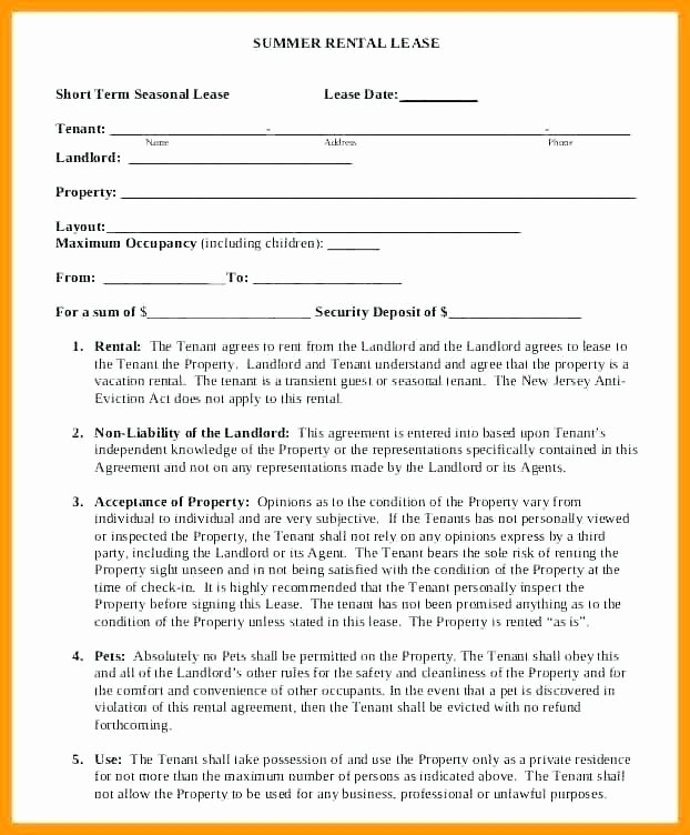 Vacation Rental House Rules Template Inspirational Short Term Vacation Rental Agreement – Kevindray
