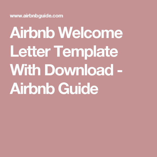 Vacation Rental House Rules Template Lovely Airbnb Wel E Letter Template with Download Airbnb