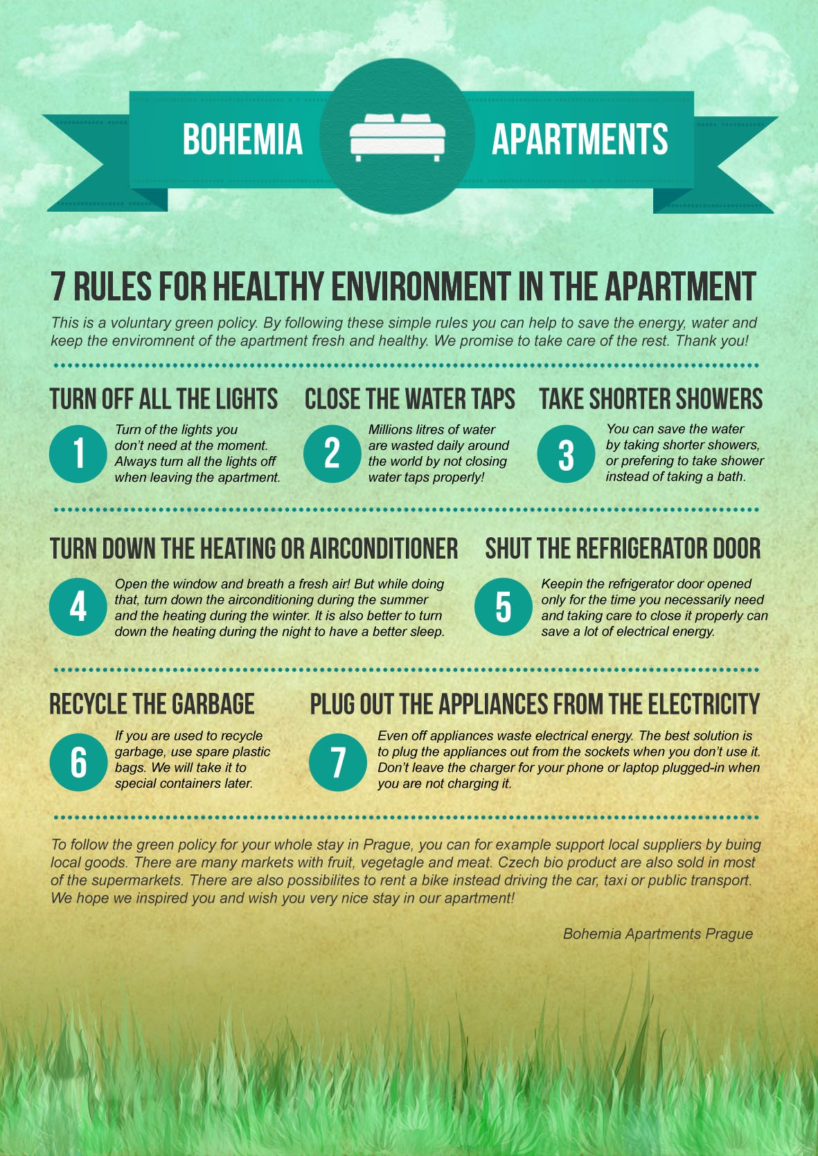 Vacation Rental House Rules Template New 7 Rules for Healthy Environment In the Apartment