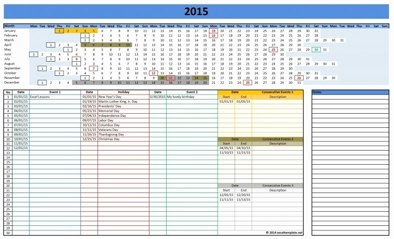 Vacation Schedule Template 2016 Awesome Leave Rostering Calendar Excel 2016 Free Calendar Template