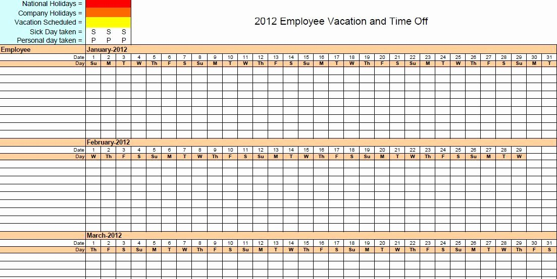 Vacation Schedule Template 2016 Best Of 4 Vacation Schedule Templates Excel Xlts
