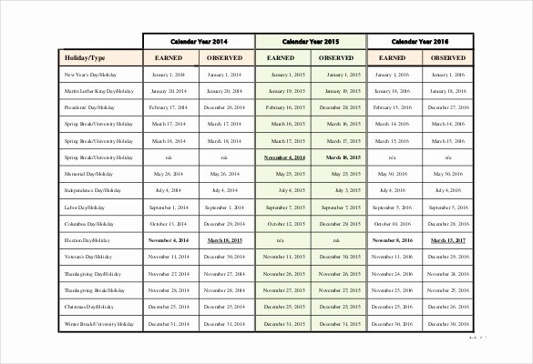 Vacation Schedule Template 2016 Luxury Holiday Schedule Template – 15 Free Pdf Documents