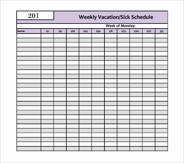Vacation Schedule Template 2016 New 9 Holiday Schedule Templates Free Word Excel Pdf