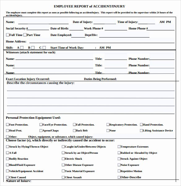 Vehicle Accident Report form Beautiful 15 Sample Accident Report Templates Pdf Word Pages