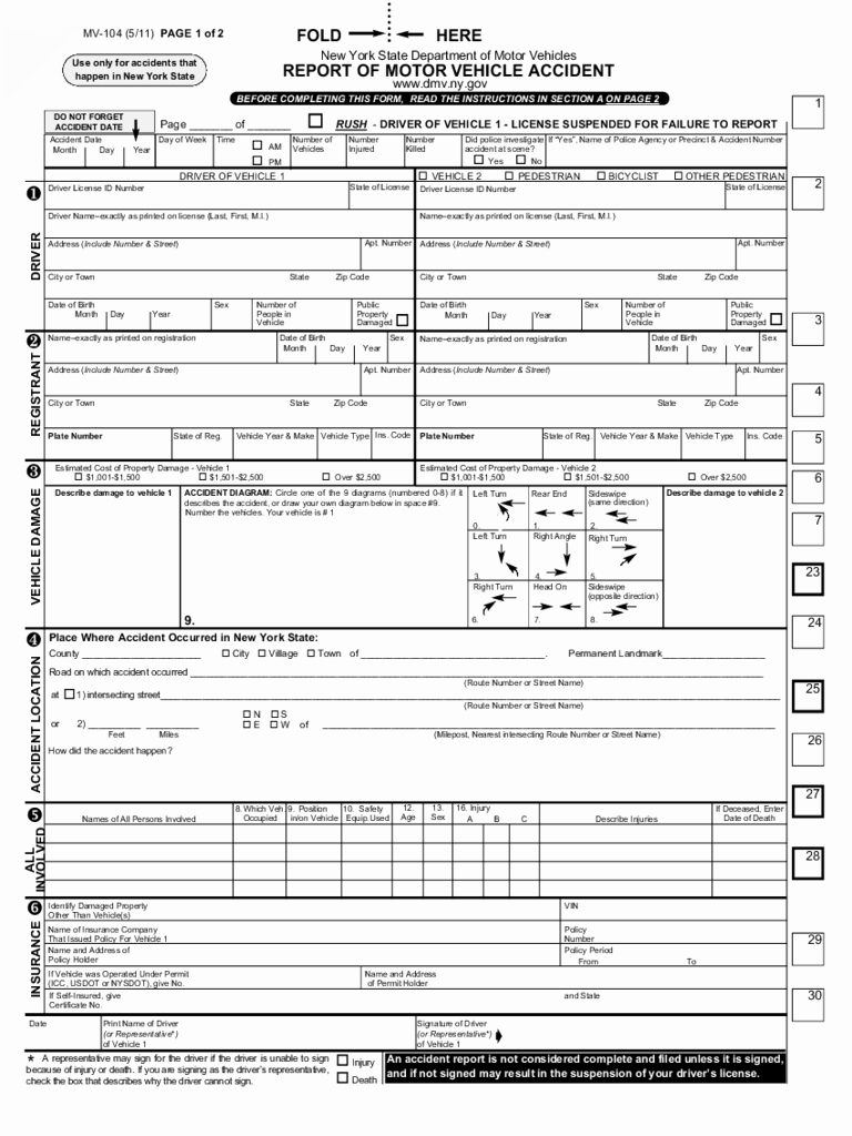 Vehicle Accident Report form Beautiful 2019 New York Dmv forms Fillable Printable Pdf & forms
