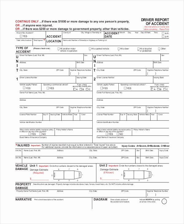 Vehicle Accident Report form Elegant Sample Dmv Accident Report form Free Documents In Pdf