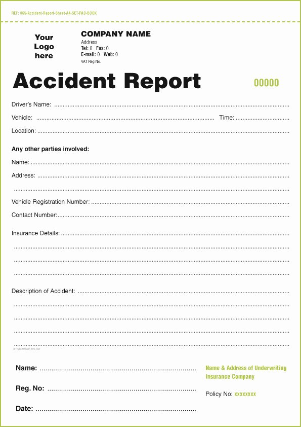 Vehicle Accident Report form Fresh Dot Driver Vehicle Inspection Report form Templates